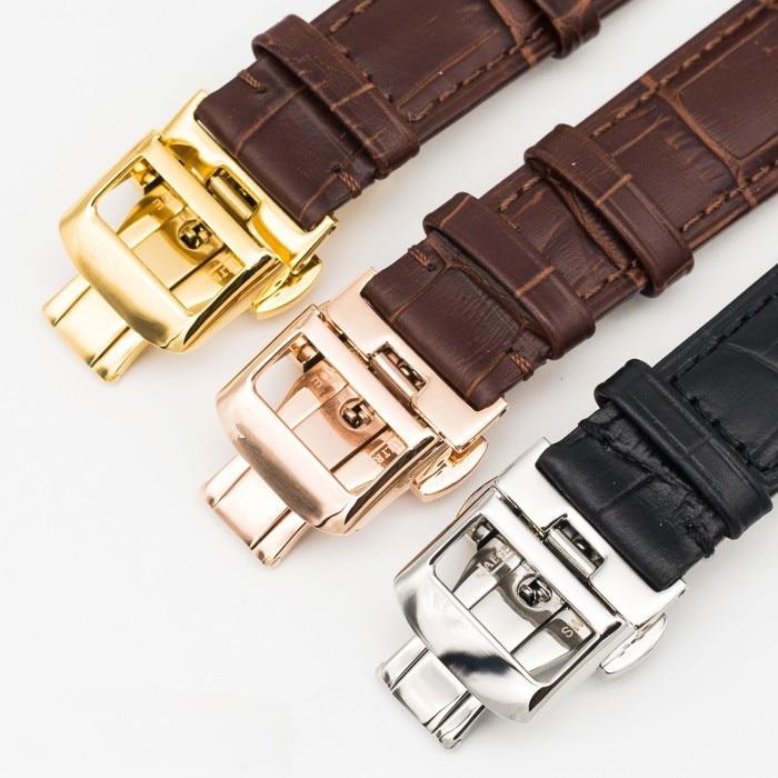 20/21/22 մմ կաշվե ժապավեն չժանգոտվող պողպատից հպումով կոճակով կոշտ կոճկով ճարմանդ JAEGER-LeCoultre Master Series Watch Band + Tool