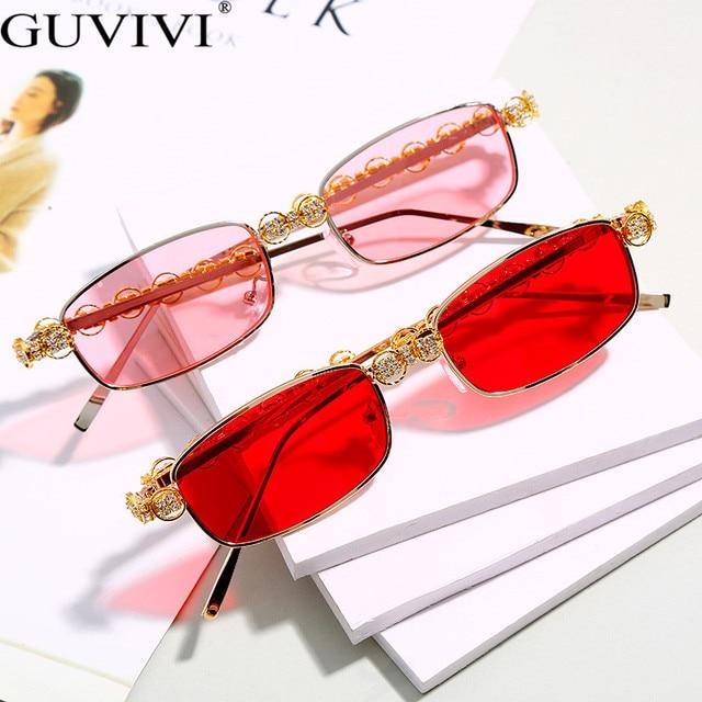 Rectangle Rhinestone Sunglasses Women Fashion Steampunk Diamond Sun Glasses Crystal Vintage Shades Eyeglasses UV400 Oculos 2
