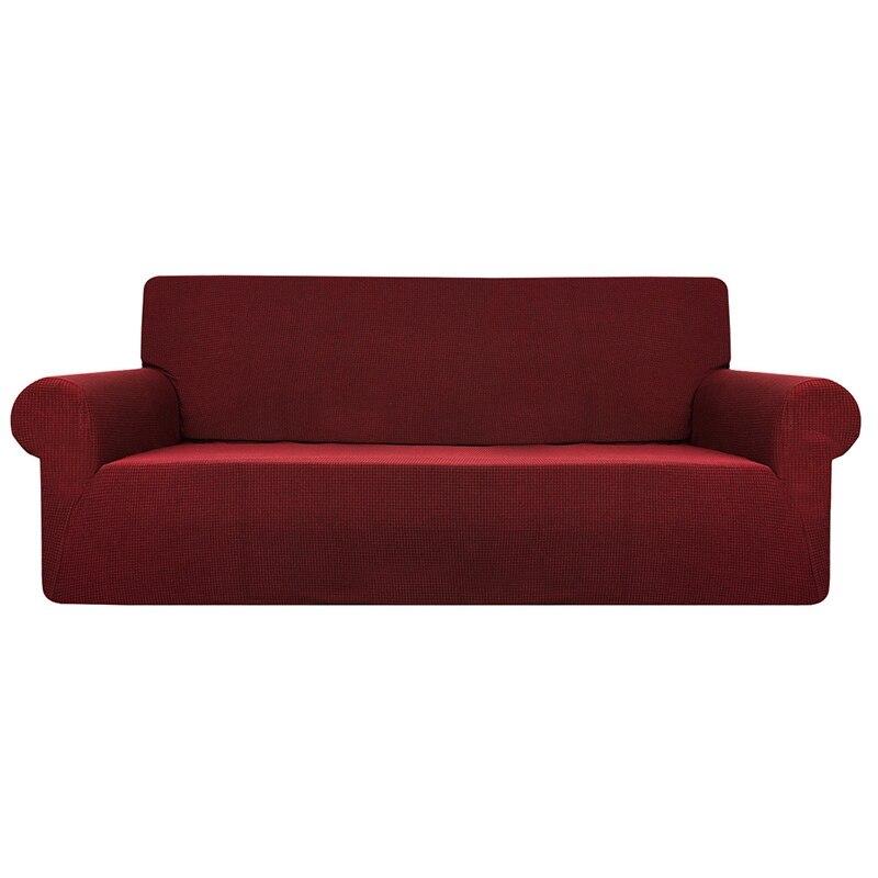 Big deal Solid Color Waterproof Sofa Cushion Sofa Cover Anti-Slip Pet Pad Diaper Four Seasons Sofa Towel Nordic Universal Red