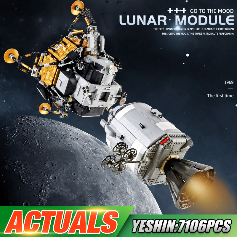 MOULD KING 21006 Toys Compatible With MOC-26457 Apollos Spacecraft Building Blocks