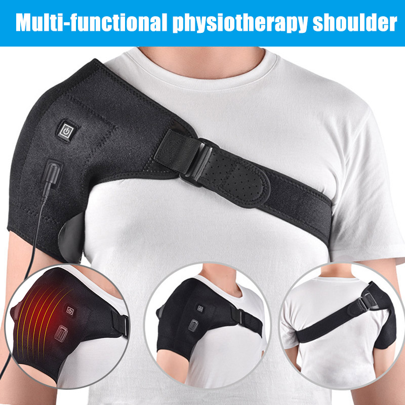 Electric Heat Relief Adjustable Shoulder Brace Back Support Belt Shoulder Injury Pain Relieve Wrap New