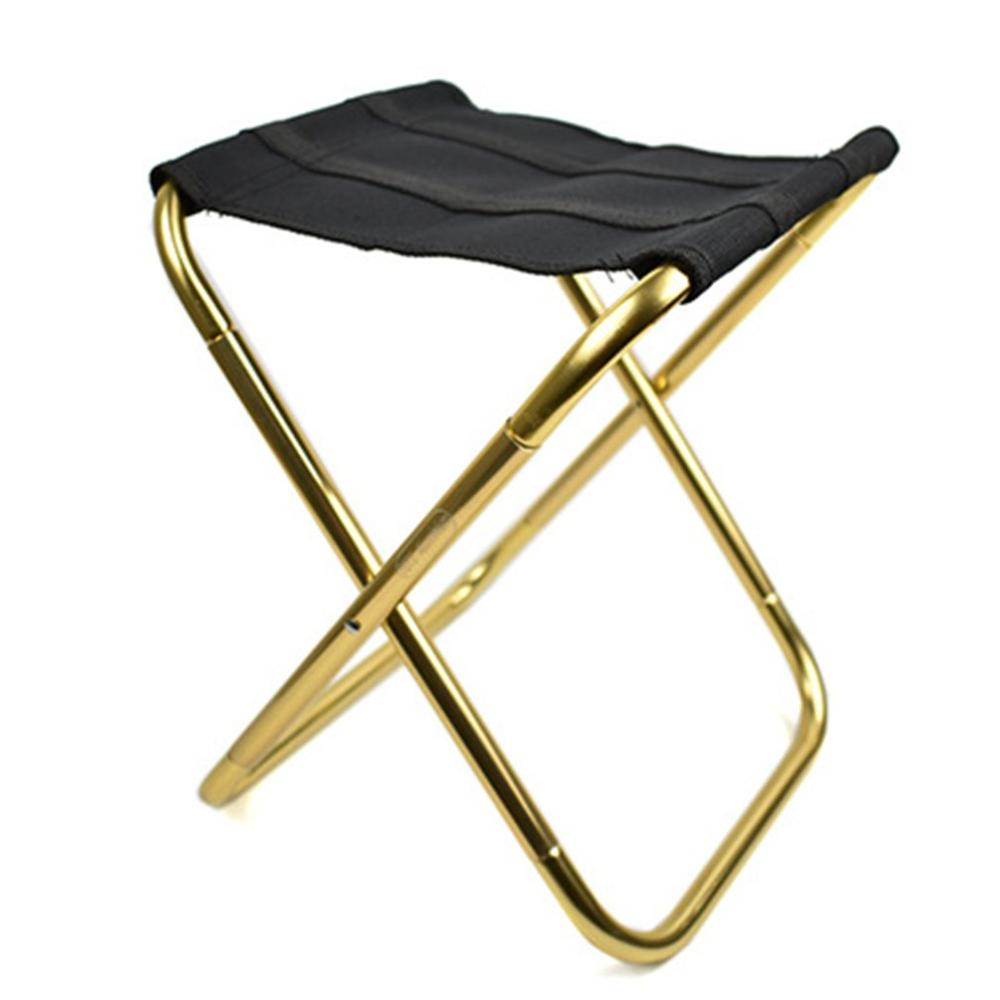 Camping Folding Table Chairs Small Mazar Outdoor Folding Chair Aluminum Alloy Fishing Chair Portable Barbecue Folding Stool