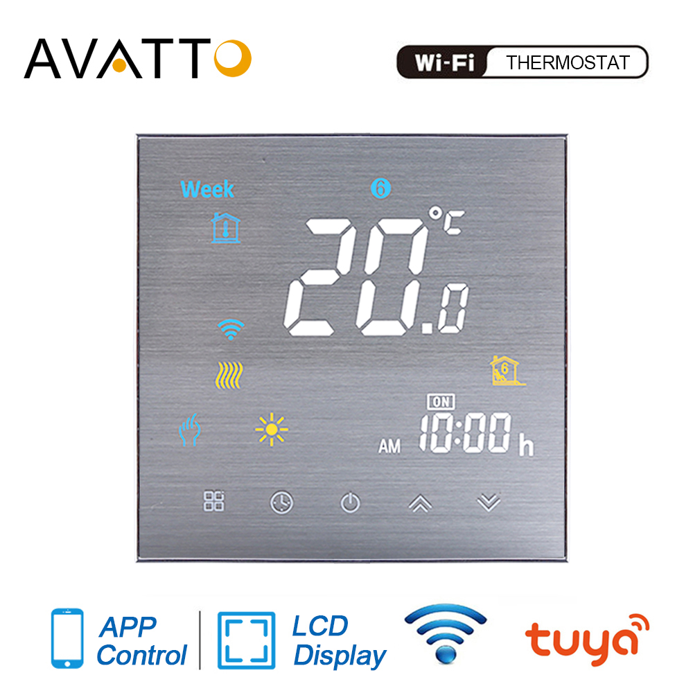 AVATTO Tuya WiFi Smart Thermostat Temperature Controller For Water/Electric Floor Heating/Gas Boiler Work With Alexa Google Home