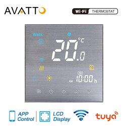 AVATTO-termostato inteligente con WiFi, controlador de temperatura para agua, calefacción eléctrica de suelo, calentador de Gas compatible con Alexa y Google Home