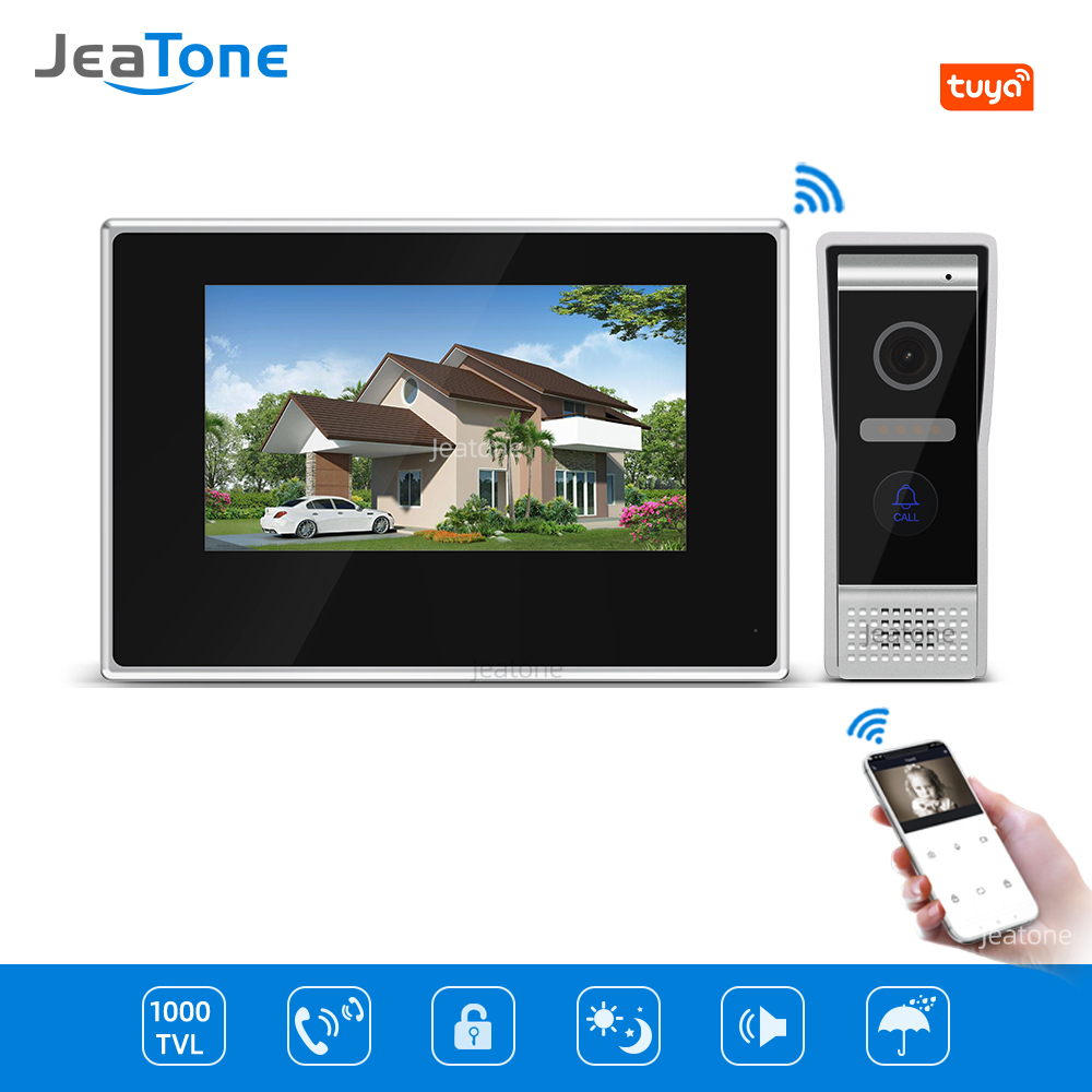Tuya Smart Home App Remote Control WiFi IP Touch Screen Video Door Phone Video Intercom Access Control System Motion Detection