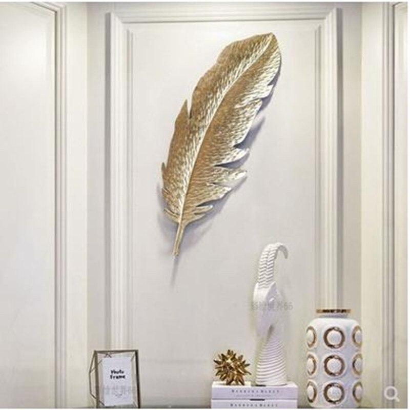 Европейский Золотой элемент декора из кованого железа, 3D настенные, листья, креативное украшение гостиницы, домашнее украшение Стены, рождественские украшения - 3