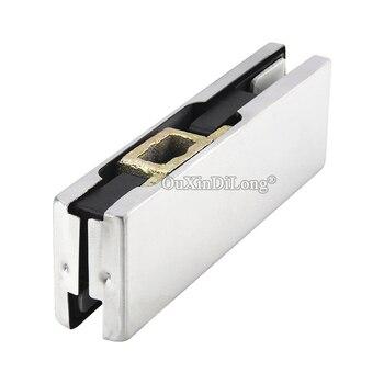 Brand New 1PCS Frameless Glass Door Clamp Floor Hinge Door Down Clips Tempered Glass Floor Spring and Glass Door Pivot Clamps