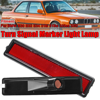 For BMW E30 E32 E34 318i 318is 325es 325i Auto Car side Left / Right Replacement Rear Bumper Side Marker Light Red/Amber Color image