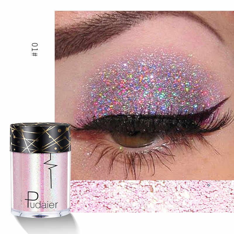 Shiny Ray Holografische Pailletten Glitter Shimmer Pigment Oogschaduw Tattoo Lip Nail Body Glitter Festival Party Eye Make-Up Poeder