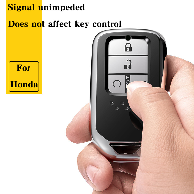 Image 2 - Hight quality TPU+ABS Car Key Cover Case for Honda Civic Accord Cr v Pilot 2015 2016 2017 2018 Buttons Remote Intelligence Key-in Key Case for Car from Automobiles & Motorcycles