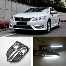 цена на ECAHAYAKU daytime Running Light Fog light High Quality LED DRL car styling for Toyota Camry 2012 2013 driving lamp 12V 24v 6000K