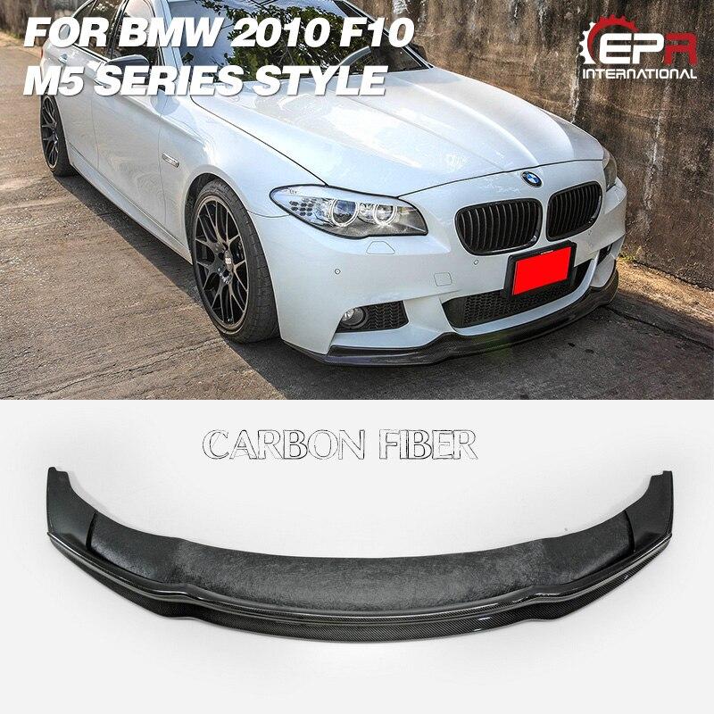 Lèvre avant en Fiber de carbone pour BMW F10 M5 série 2010 Arkym Style Kit de corps de lèvre avant garniture de réglage pour pièce de course F10