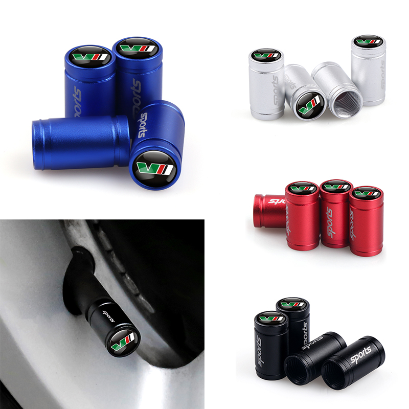 Car Styling 4pcs/lot Car Wheel Tire Valves SPORT Tyre Air Caps Case For Skoda VRS Octavia Fabia Rapid Yeti Superb Accessories