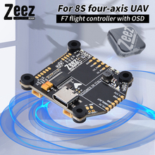 IN STOCK ZEEZ F7 Flight Controller Built-in 8S 5V BEC 3A MPU6000 128MB Flash OSD Chip Onboard for