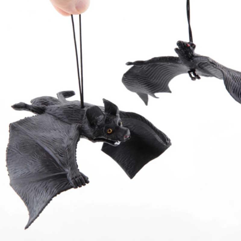 1pc ハロウィンシミュレーション動物コウモリトリックおもちゃギャグジョークペンダントバーシーンの小道具ホットエイプリルフールの日ハロウィン装飾