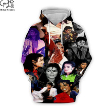 PLstar Cosmos Pop King Michael Jackson casual colorful 3DPrint Hoodie/Sweatshirt/Jacket/shirts Mens Womens hip hop Spacewalk s-4