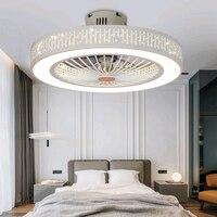 220V Ceiling Fans With Light Bedroom home Decora 110V Ceiling Fan with Wi fi Remote Control 50 55 cm fan lamp Ventilador De Teto