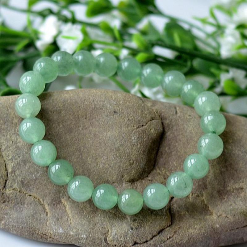 MOROW 100% Natural Green Aventurine Round Bead Stone Bracelet Jewelry Simple Women`s Men Bracelets Fashion Classic Accessory New (11)