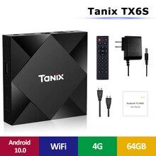Android 10.0 TV Box Tanix TX6S Allwinner H616 4GB 64GB Media
