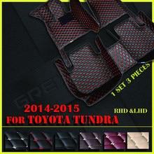 Alfombrillas de cuero para coche, para Toyota Tundra 2014 2015, almohadillas personalizadas para pies, cubierta de alfombra para automóvil