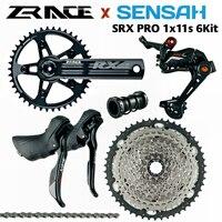 SENSAH SRX PRO 1x11 Speed, 11s Road Groupset, R/L Shifter + Rear Derailleurs + ZRACE chainset Cassette, gravel-bikes Cyclo-Cross