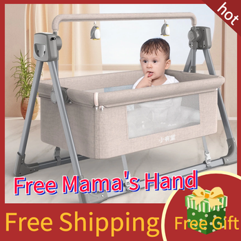 Baby Bed Swing Multifunctional Electric Cradle Rocking Chair Newborn Smart Coax Soothing Fast Sleeping WIFI Folding baby rocking chair baby electric rocking chair to appease the cradle bed children s dining chair rocking chair with remote cont