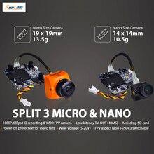 RunCam Split 3 Micro & Split 3 Nano DC5-20V 1080P/60fps HD Recording &WDR FPV Camera PAL/NTSC Switchable 40ms Low Latency for RC