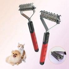 Peigne en fourrure pour animaux de compagnie, coupe-nœud, râteau de toilettage, brosse de perte de poils pour chiens et chats