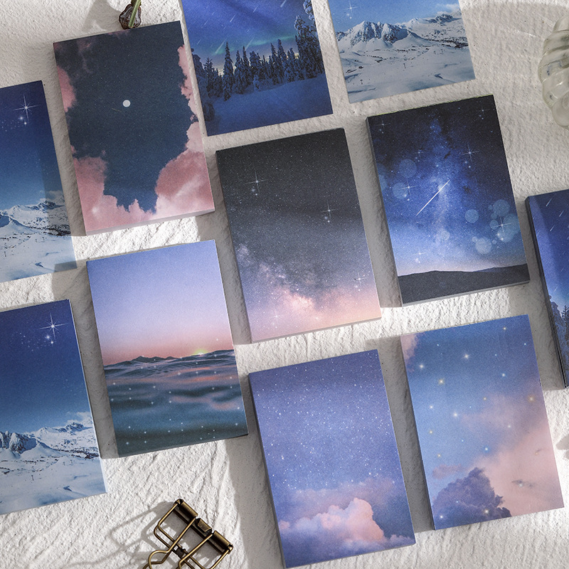 100 Pages/set Dark Sky Dreams Ins Style Loose Leaf Decoration Memo Sheet Pad Planner To Do List School Office Stationery Supply