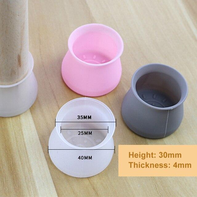 16 pièces Silicone meubles jambe Protection couverture Table pieds Protection de sol pour la maison
