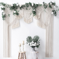 Nordic Wedding Photography Background Tapestry Outdoor White Arch Lodging Decoration 100% Cotton Handmade Bohemian Ins Tapestry
