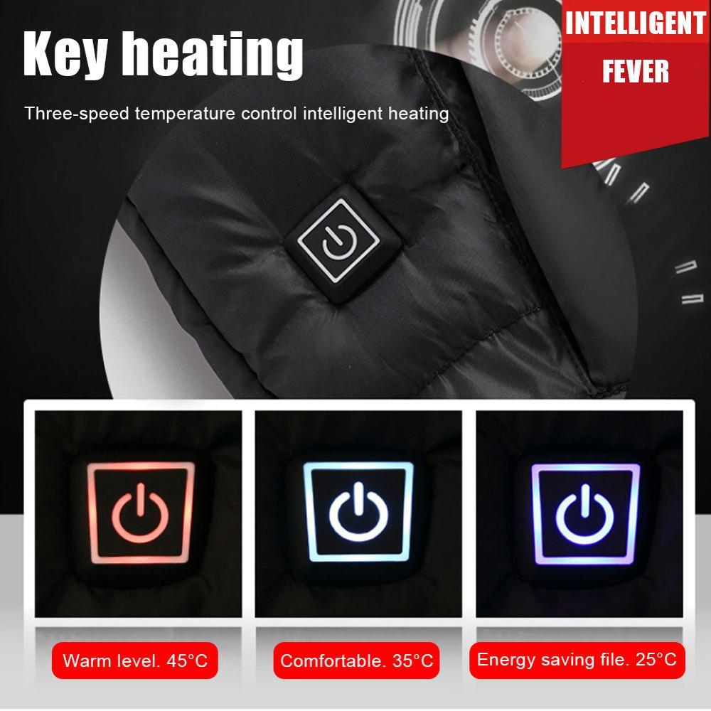 Мужчины и Женщины Многофункциональный Отопление жилет USB Зарядка Отопление Жилет 5 Отопление Зона Зима тепло на открытом воздухе кемпинг походы гольф