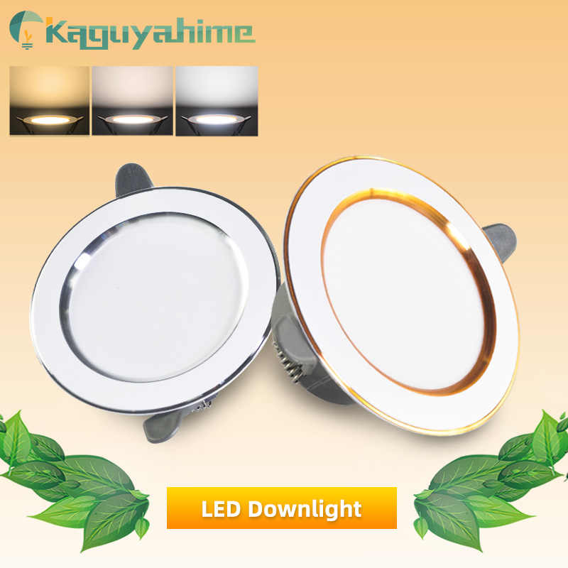 Kaguyahime 1/4Pcs LED זרקור 3000k 4500K 6000K מנורת AC 220V 240V כסף מקורה עגול שקוע בית LED תאורת ספוט אור