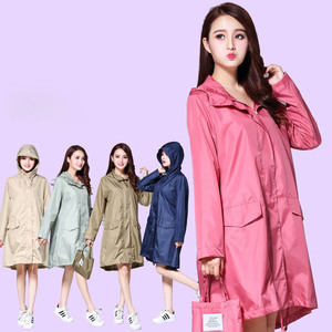 Image 5 - Womens Hooded Raincoat Waterproof Rain Jacket Trench Coat Impermeable Long Fashion Luxury Pink Ladies Rain Cover Cloak Clothes