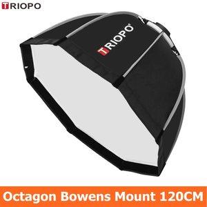 Image 1 - TRIOPO 120cm Octagon Softbox Diffusor Reflektor w/Bowens Montieren Licht Box für fotografie Studio Strobe Licht zubehör