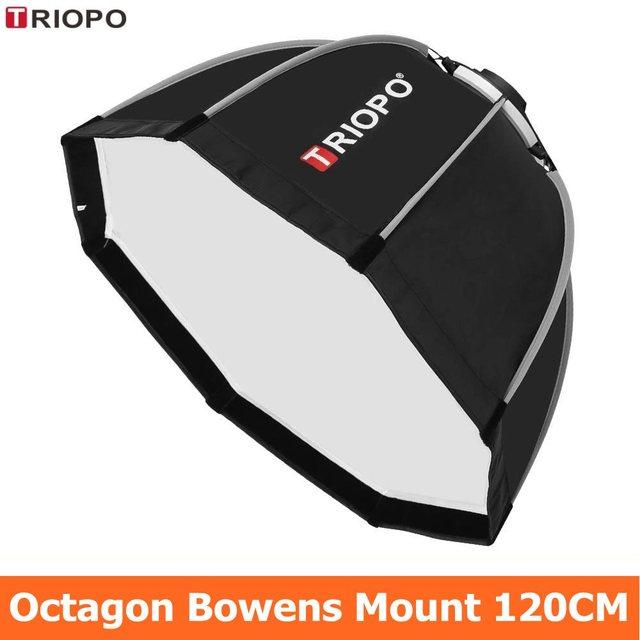 Triopo 120 Cm Octagon Softbox Diffuser Reflector W/Bowens Mount Lichtbak Voor Fotografie Studio Strobe Flash Light Accessoires