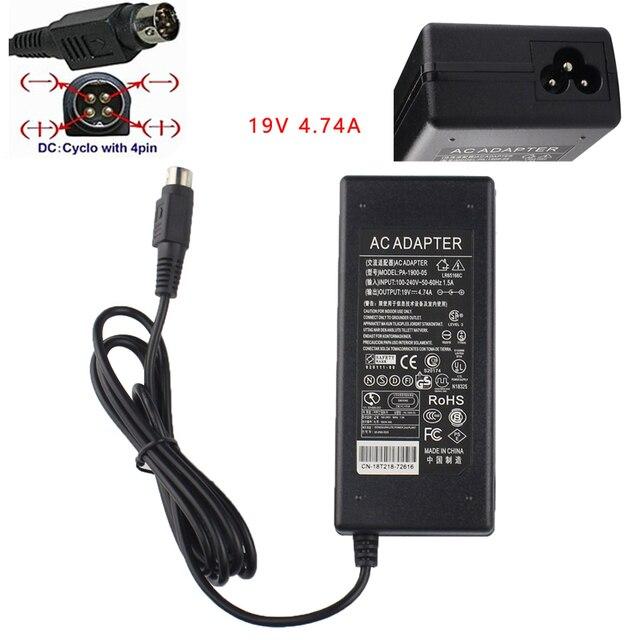 4-Pin V 19V 4.74A AC/DC adaptador para FSP grupo FSP090-DMBB1 9NA0900510 FSP090DMBB1 Getac V200 G2 M220 A790 X500 Toughbook portátil