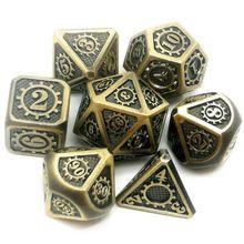 Новые металлические игральные кости 7 шт./компл. ролевая игра игральные кости Волшебные реквизиты D4 D6 D8 D10 D12 D20 A0KA