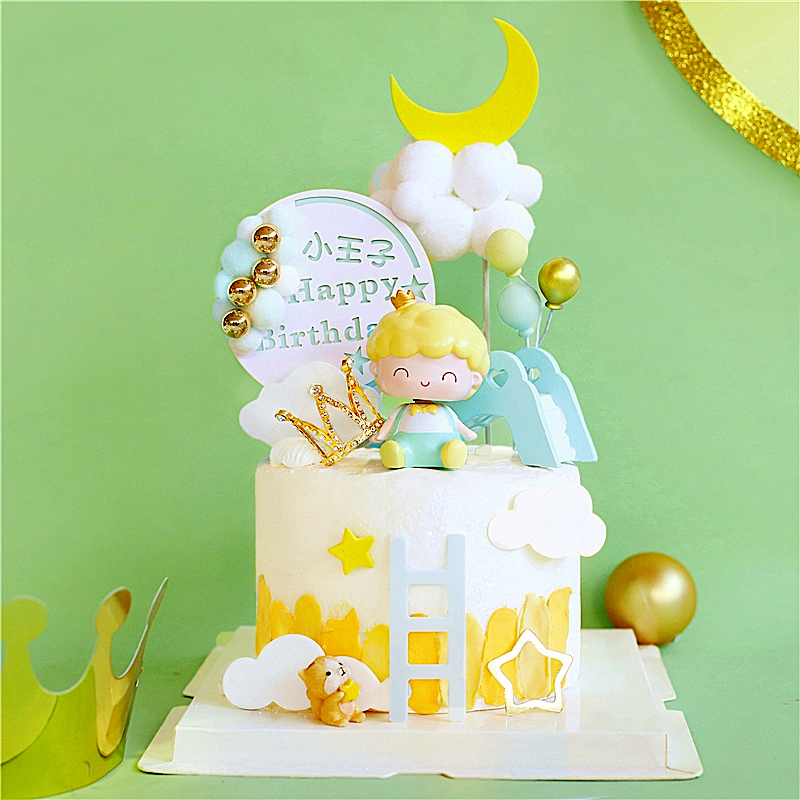 Белка Корона принц торт Топпер для дня рождения Декор лестница горка ребенок душ десерт выпечки принадлежности Любовь Подарки|Товары для украшения тортов|   | АлиЭкспресс