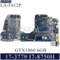 KEFU LA-F612P материнская плата для ноутбука Dell G3 17-3779 оригинальная материнская плата I7-8750H GTX1060-6GB
