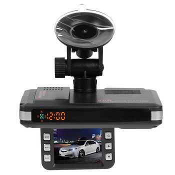 VGR1-S 3 in 1 Car DVR Dash Cam Video Recorder Vehicle Speed Display GPS Track Playback Radar Detector Russian Version image