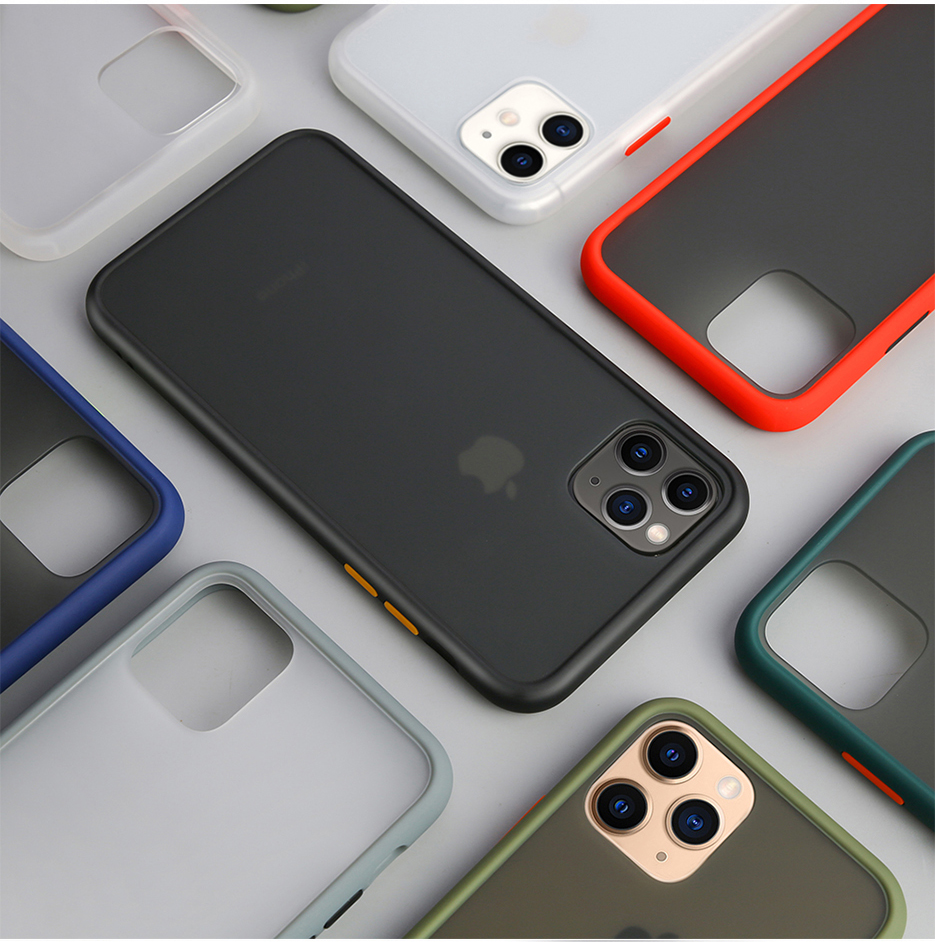 Case For iPhone 11 Pro Max X XS XR 7 8 6 6S Plus Cover Coque Shell Funda Fashion Shockproof Phone PC Back Soft Silicone TPU Edge