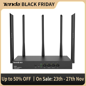Tenda W20E Enterprise Wireless WiFi Router 2.4G/5GHz 1350Mbps Wi-Fi Repeater with 5 Antennas and Gigabit port,16 AP Management