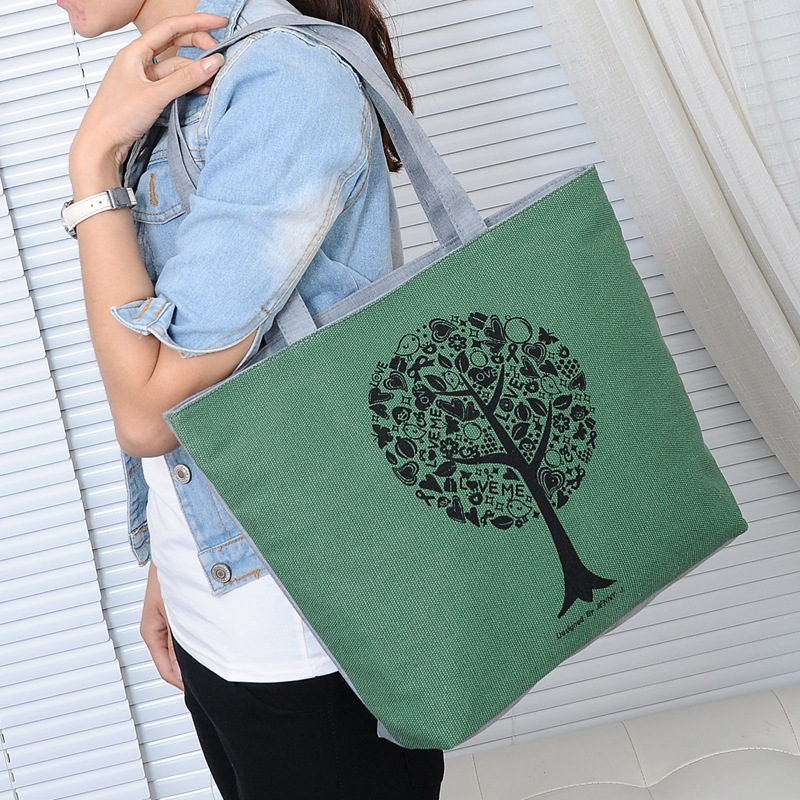 Mommy Mother Baby Diaper Bag Single Shoulder Back Woman Package Canvas Bag Shopping Handbag Capacity Nappy Stroller Bag Nursing
