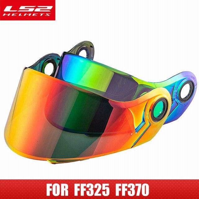 מקורי LS2 קסדת מגן עבור LS2 FF370 moto rcycle קסדה 4 צבעים עדשה עבור LS2 FF394 FF386 FF325 Flip עד moto קסדת Glsses