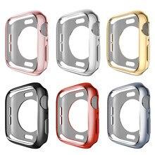 Чехол с рамкой из термополиуретана для Apple Watch, чехол 40 мм, 44 мм, 38 мм, 42 мм, серия 5, 4, 3, 2, 1, защитный чехол, бампер для iWatch, полосы, оболочка