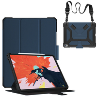 Case For iPad Pro 12.9 inch 2018 Cover With Pencil Holder PU Leather + TPU Soft Back Smart Case Protection Shoulder Strap KTZ
