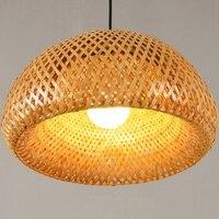 Nieuwe Bamboe Rieten Rotan Lampenkap Handgeweven Double Layer Bamboe Dome Lampenkap Aziatische Rustieke Japanse Lamp Ontwerp|Lampenkappen|   -