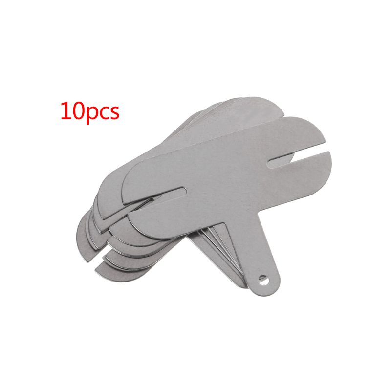 10PCS 18650 Power Lithium Batteries T-Shape Nickel Plated Steel Battery Connection Lead-out Sheet Spot Welding Film