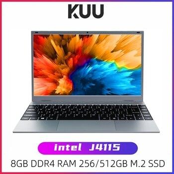 KUU-ordenador portátil XBOOK de 14,1 pulgadas, 8GB, DDR4 RAM, 128G, 256G, SSD, Windows 10, Intel J4115, Quad core, retroiluminación, teclado, Notebook para estudiantes
